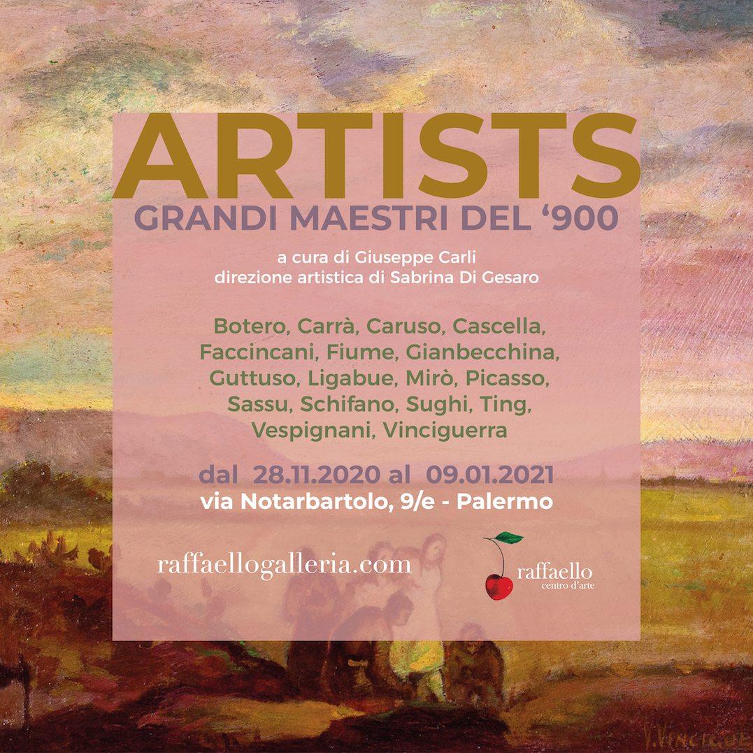 ARTISTS collettiva di grandi maestri del '900