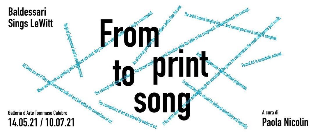 From print to song – Baldessari Sings LeWitt