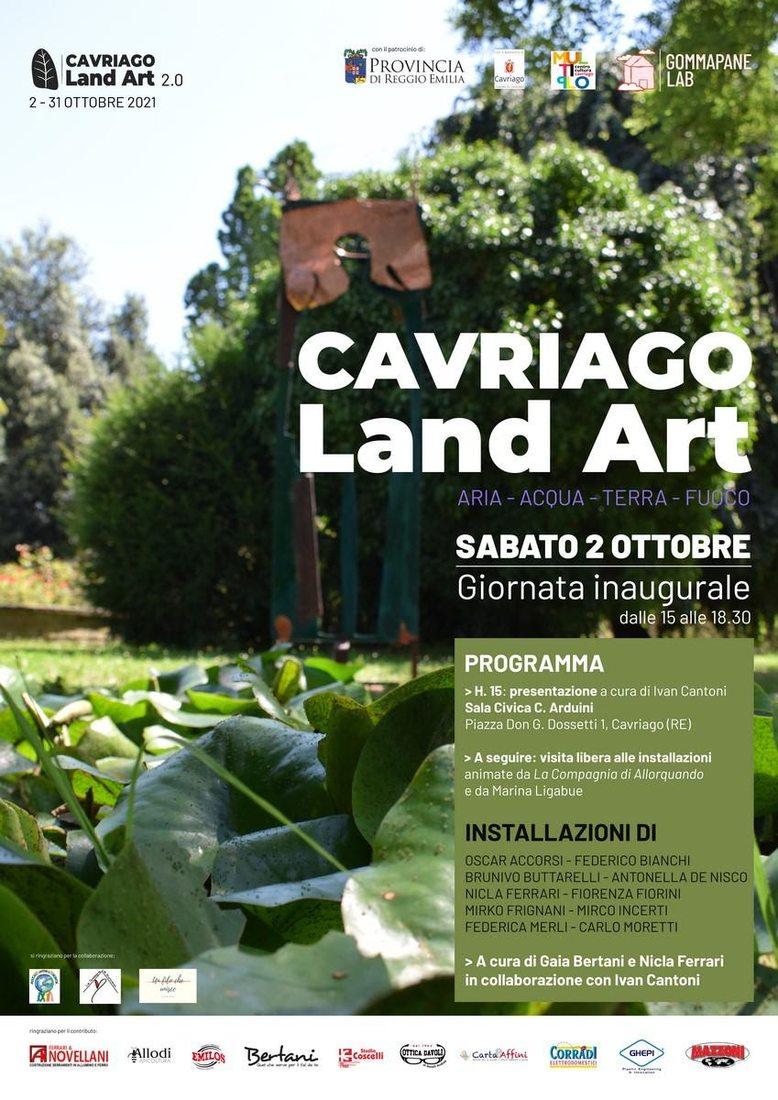 Cavriago Land Art. Aria, Acqua, Terra, Fuoco