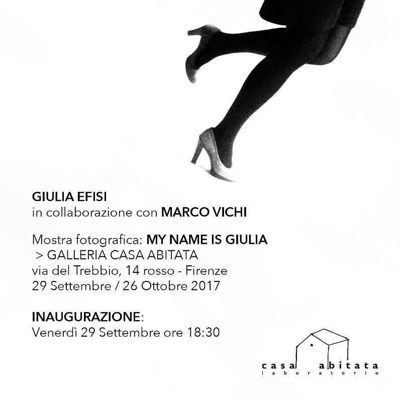 Il mio nome è Giulia / My name is Giulia alla Galleria Casa Abitata