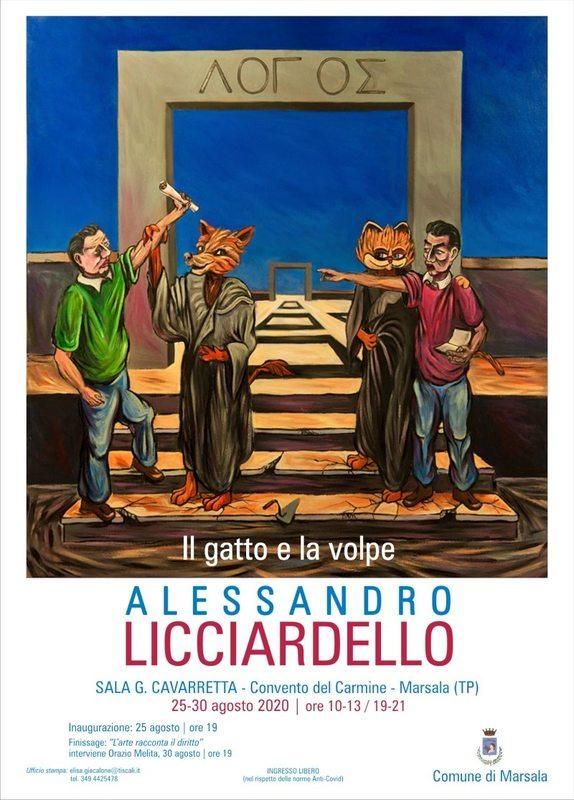 Il gatto e la volpe personale di pittura di Alessandro Licciardello