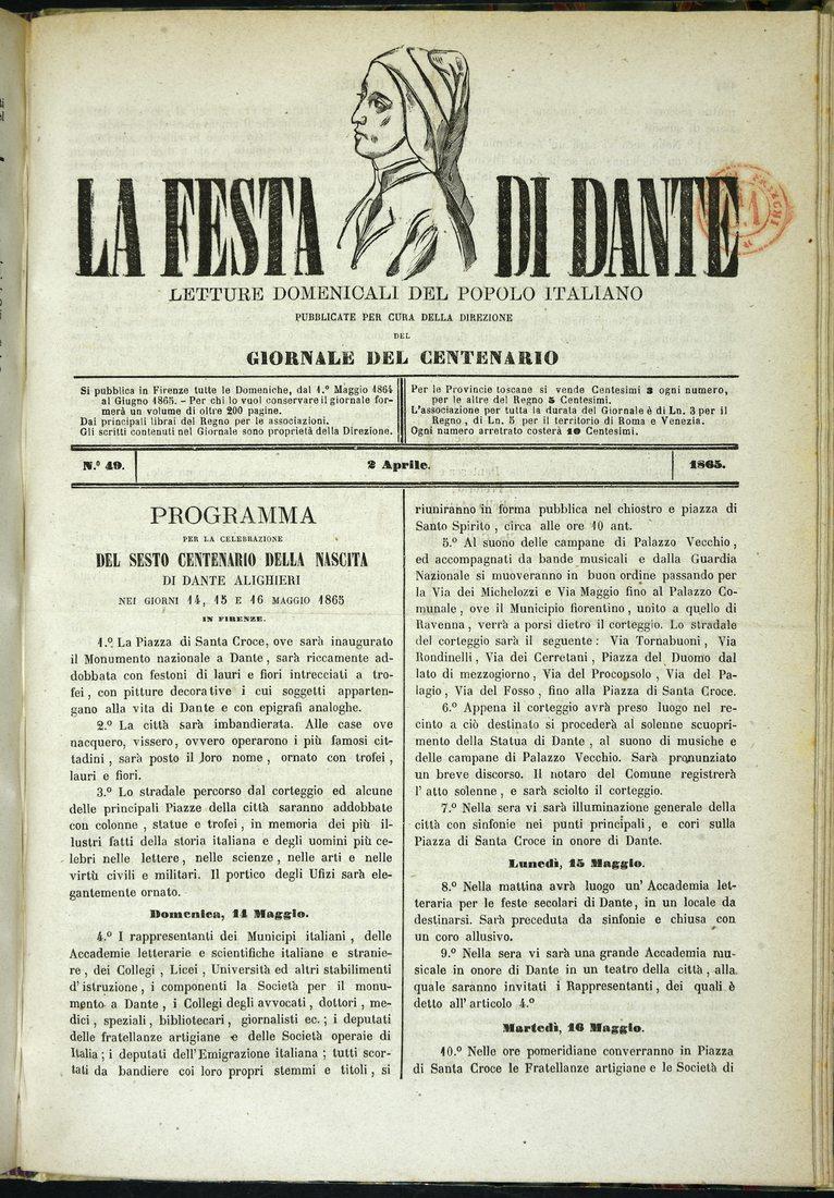 La Festa di Dante. Un viaggio nella Commedia