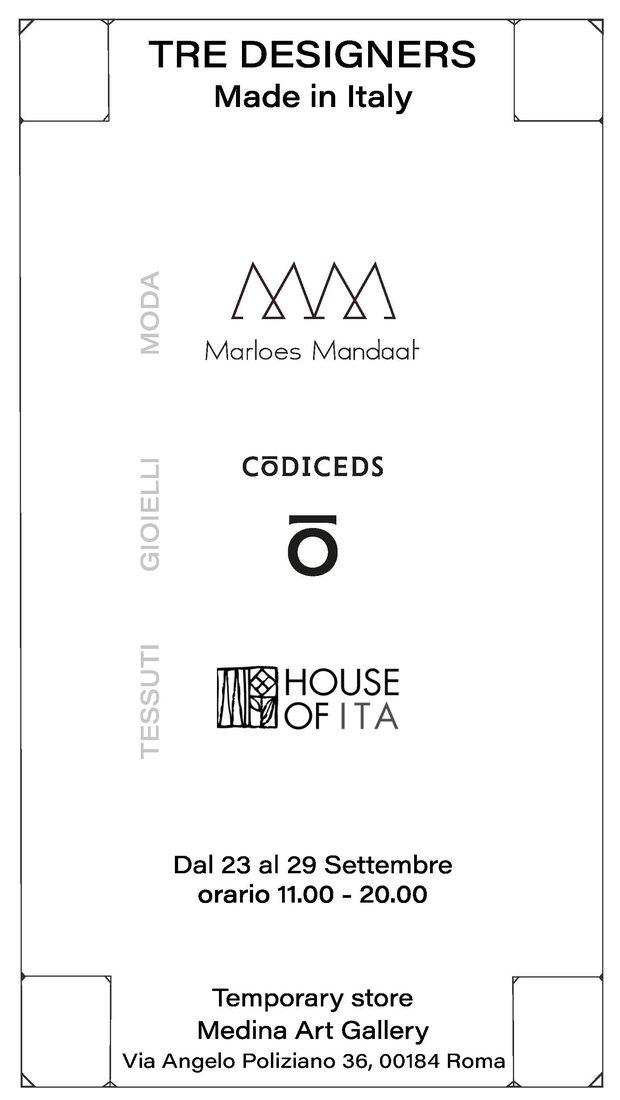 Tre Brand di design Made in Italy alla Medina Art Gallery