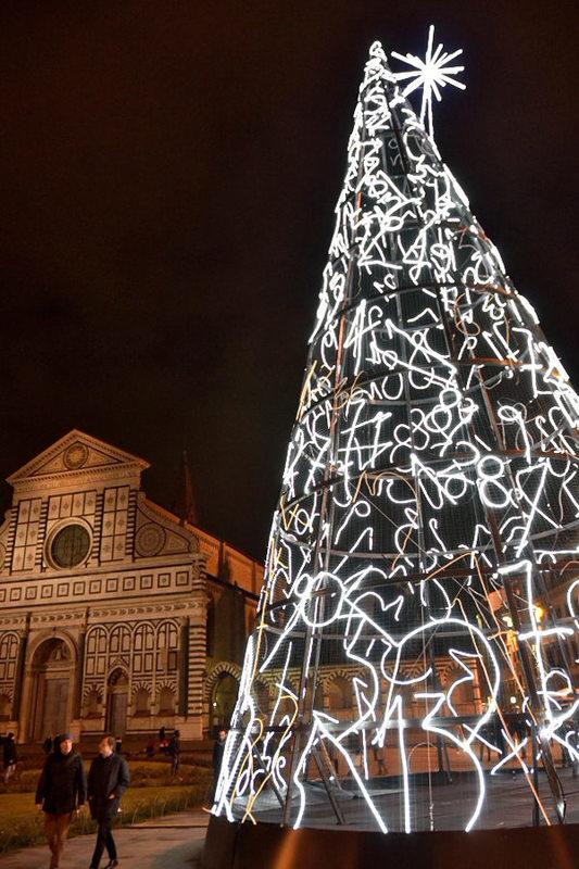 Three Artist Trees, Firenze Light Festival