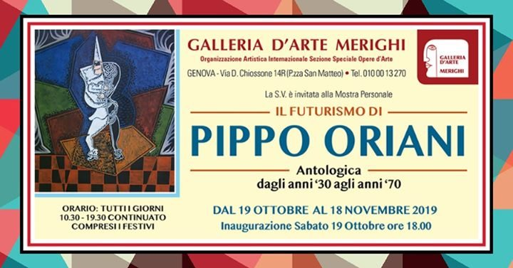 Pippo Oriani - Mostra Antologica a Genova