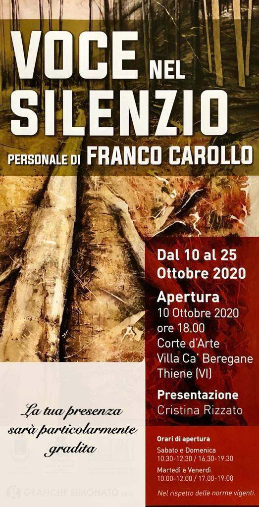 Voce nel silenzio, personale di Franco Carollo