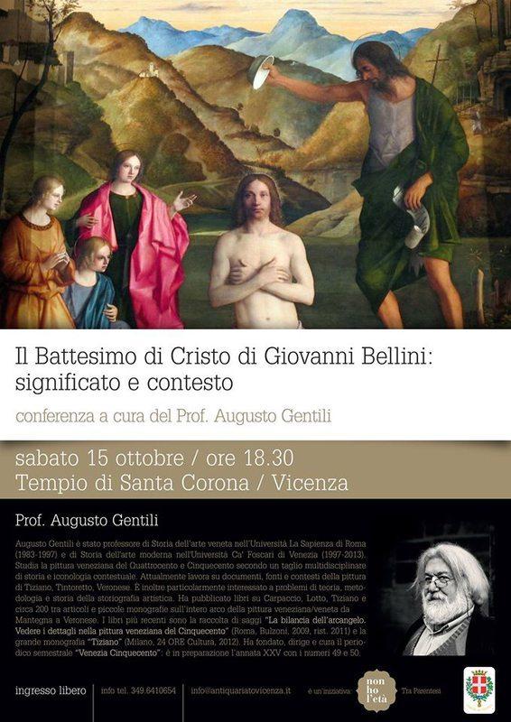 Augusto Gentili racconta Bellini: il Battesimo di Cristo