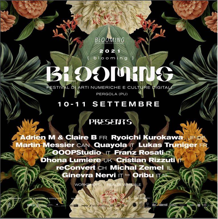 Blooming Festival - arti numeriche e culture digitali