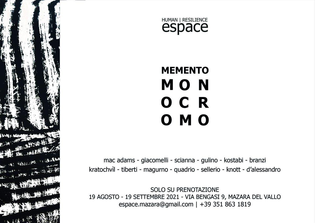 Memento Monocromo allo Spazio espositivo Espace