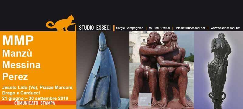 Jesolo dialoga con tre grandi Maestri della scultura: Manzù, Messina e Perez