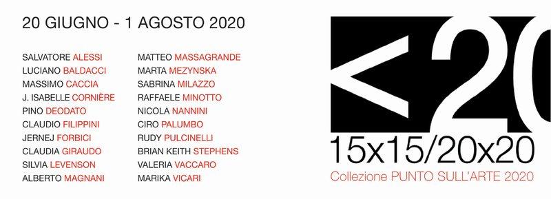 <20 15x15/20x20 - 20 Artisti per la mostra <20 di PUNTO SULL'ARTE