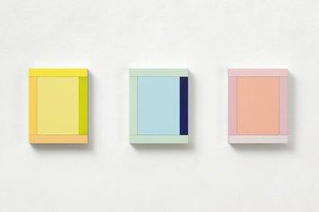 Imi Knoebel Anima Mundi 106-3 2019  acrylic on aluminium / acrilico su alluminio 37x127x5,8 cm Courtesy Dep Art Gallery, Milano