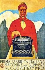 Teodoro Wolf Ferrari, Affiche Olivetti M1, 1912, manifesto su carta, cm 32.6x21.8x1