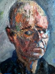 Autoritratto 2, olio su faesite, 2001, cm. .45x40