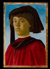 Sandro Botticelli - Ritratto di fanciullo con mazzocchio, 1470-1471 c. Firenze, Gallerie degli Uffizi, Palazzo Pitti, Galleria Palatina e Appartamenti Reali - Gabinetto Fotografico delle Gallerie degli Uffizi