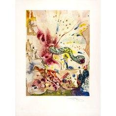 Dalì, Les serpente et la pomme, 76 x 56 cm,  litografia, 1981_89