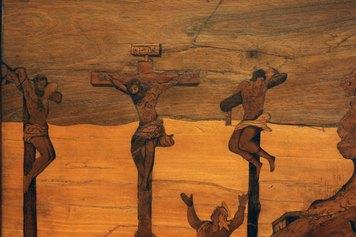 Fra Damiano Zambelli (1480 circa - 1549). Crocifissione, 1530 circa (dettaglio) - cm 80 x 55,5   Milano, collezione privata. Foto Roberto Serra