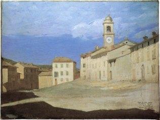 Giuseppe Pellizza da Volpedo - La piazza di Volpedo