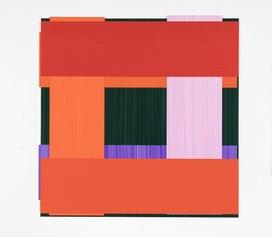 Imi Knoebel Face 87 Ed  2016 Acrylic on plastic foil /acrilico su film plastico 36x36 cm Courtesy Dep Art Gallery, Milano