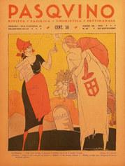 F. Mateldi, Copertina di «Pasquino», a. 66, n. 47, 20 novembre 1921. Fondo Paolo Moretti per la satira politica, Bergamo