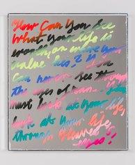 Lukas Glinkowski - untititled, 2021 - oil, gloss paint, acrylic mirror, mirror, wood, 60x50x3,5 rid