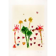 Schifano, Palme, 100 x 70 cm, serigrafia a smalto, 1988