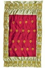 Giuseppe Abate, Panther, ricamo a macchina; filo d'oro sintetico su seta sintetica e naturale di Assam, cm 200 x 120, 2017, courtesy l'artista
