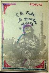 E la Fata lo guardava e rideva, 1981, dalla serie quadretti 1981, 26,5x18cm, intervento poetico su fotografia di quotidiano.