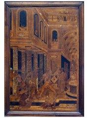 Fra Damiano Zambelli (1480 circa - 1549). Flagellazione, 1530-1540 - cm 76,5 x 51,5   Milano, collezione privata