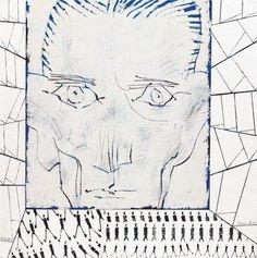 Franz Kafka, 2017 - Olio su intonaco intelato, 55 x 55 cm