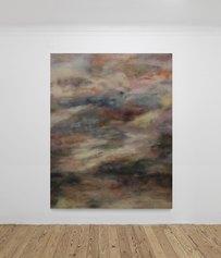 Serena Vestrucci, Trucco, ombretti su tela, dieci giorni, cm 255 x 200, 2020, courtesy l'artista e Renata Fabbri arte contemporanea, Milano