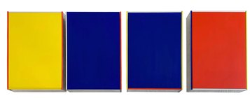 Imi Knoebel DIN II a1-a4  1994  Acrylic on aluminum and wood /acrilico su alluminio e legno 36,7x27,2x8 cm Courtesy Dep Art Gallery, Milano