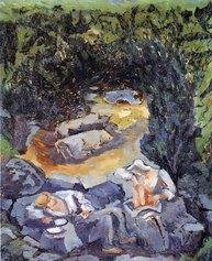 Arturo Martini, La siesta, 1946, olio su cartone, cm 58x48,3