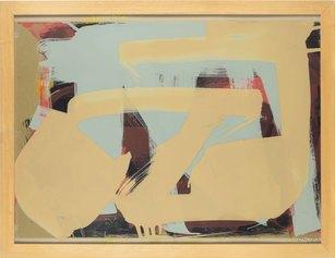 Imi Knoebel Untitled  1983  enamel on layered cellulois on cardboard / smalto su celluloide stratificata su cartone 73,5 x 98 cm Courtesy Dep Art Gallery, Milano