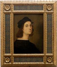 Raffaello Sanzio (Urbino, PU, 1483 - Roma, 1520). Autoritratto, 1505-1506. Gallerie degli Uffizi, Galleria delle Statue e delle Pitture, Firenze