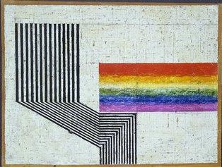 Osvaldo Licini, Ritmo, 1933, olio su tela intelata su tavola, 21x29 cm. Courtesy Museo d'Arte Contemporanea di Villa Croce Ph. Mario Parodi