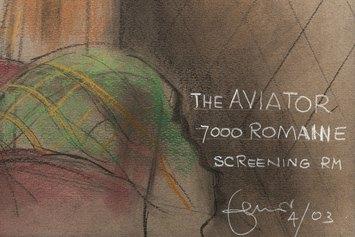 """Dante Ferretti, Hugo Cabret (2012), """"Into the tunnel"""". Pastello su carta, 73x102 cm"""