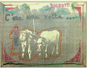 C'era una volta…, 1981, dalla serie quadretti 1981, 13,5x18cm, intervento poetico su fotografia di quotidiano.