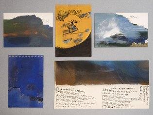 Elisa Montessori, Isola, 1995 gouaches e inchiostro su carta, 43 x 60 cm © MAR - Museo d'Arte della città di Ravenna