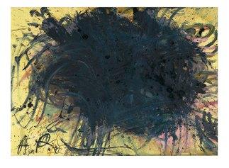 Ohne Titel, 1981-83. Olio su cartone su legno. Oil on cardboard on wood. cm 77 x 105,5