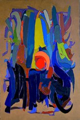 Silvio di Giovanni, The fruit of knowledge, paste acriliche e olio su tela, 2019, 150x100