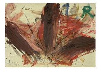 Ohne Titel, 1981-83. Pastelli e olio su cartone su legno. Pastels and oil on cardboard on wood. cm 77 x 105,5