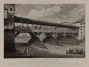 Sebastiano Lovison, Ponte Vecchio di Bassano, 1826 Incisione a bulino, 330x430 mm. Museo Civico, Bassano del Grappa