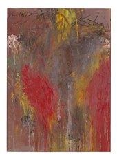 Ohne Titel, 1981-83. Pastelli e olio su cartone su legno. Pastels and oil on cardboard on wood. cm 105 x 76,5