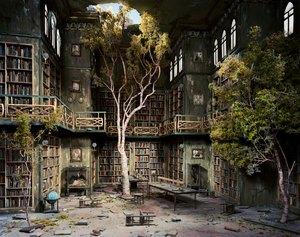 """LORI NIX, Library, 2007 from """"The City"""" series color photograph cm 76 x 127 ca. Courtesy: Collezione Cesareo"""