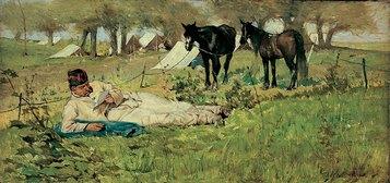 Giovanni Fattori, La lettera al campo