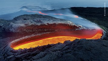 © Luciano Gaudenzio, Wildlife Photographer of the Year 2020, Etna's River of Fire