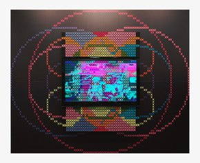 Interactive screen, 2009,160 x 120 cm