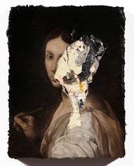 Nicola Samorì, Pittura, 2018, olio su tavola, 40 x 30 cm © Monitor, Roma / Lisbon / Pereto.
