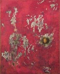 Mimmo Rotella, Senza titolo, 1948, tecnica mista su compensato, 50 x 40 cm, Collezione Intesa Sanpaolo, Archivio Patrimonio Artistico Intesa Sanpaolo / foto Paolo Vandrasch, Milano